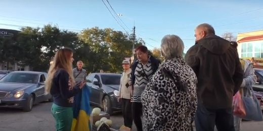 Крым демонстрация русские флаги, видео девушки на людях разделись наголо